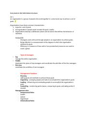 Study Guide for MGT 2000 Midterm One Exam.docx