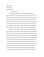 theater 2 essay one savage in limbo