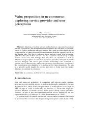 Value proposition in m-commerce, exploring services provider and user perception.pdf