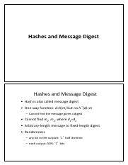 lec-4 Hashes and Messages Digestes