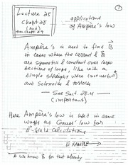 Applications of Ampere's Law