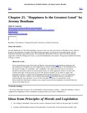 Happiness Is the Greatest Good by JeremyBentham.html