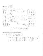 Old Midterm 2 Solutions