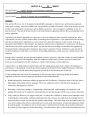 ARTICLE BRIEF 20