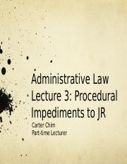 Lecture 3 - procedural impediments.pptx