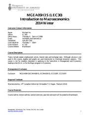 MGEA05 - LEC30 - Course Outline - 2014 Winter