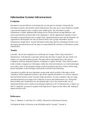 Information systems infrastructure.docx