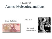 chapter 2, atoms, molectules, and ions