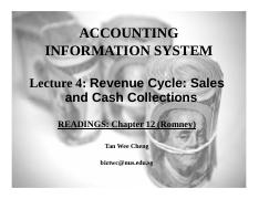 Lecture 4 Revenue Cycle