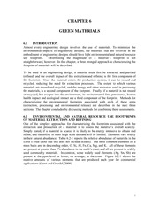 Chapter 6 Green Materials January 2015