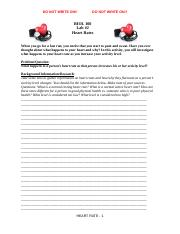 BIOL 100- Lab _2- Heart Rate- Student Handout
