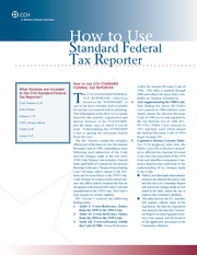 47-How to Use Standard Federal Tax Reporter