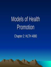 16-Chp_2_Models_of_Health_Promotion(1)(1) (2).ppt
