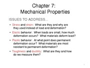 Chapter 7 - Mechanical properties