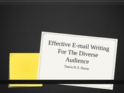 Effective E-mail Writing For The Diverse Audience