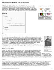 Afghanistan–United States relations - Wikipedia, the free encyclopedia