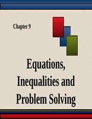 Equations, Inequalities and Problem Solving.ppt