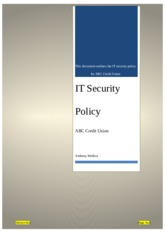 Unit 10 Lab IT Security Policy