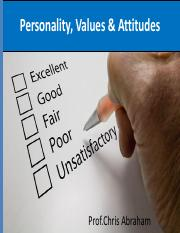 personality,values and attitudes