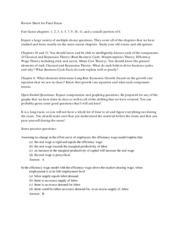 fair game sheet final exam