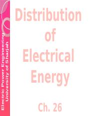 Distribution of Electrical Energy- Ch26.pptx