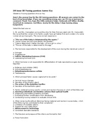26079286-100-Items-OB-Nursing-Questions-Answer-Key