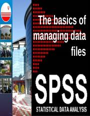 spss COGS 2 - key in data