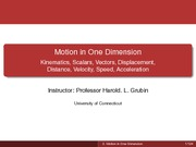 Lecture02. Motion in One Dimension Student Version