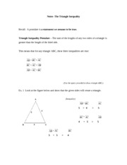 Triangle Inequality- Notes