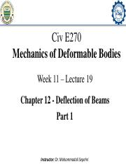 11-Civ E 270 - Lecture 19_Deflection of Beams_Part 1UPDATED-min.pdf