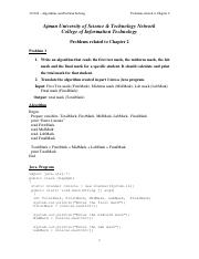 Problems related to Chapter 2 with their java programs 20131.pdf