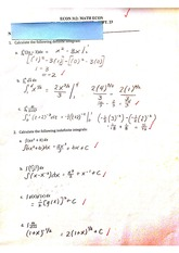 Worksheet, definite integrals