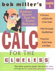 Calculus for the Clueless - Calc.I - Bob Miller's.pdf