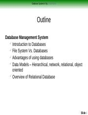 1-Database Systems II - Introduction