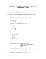 HW 9 (Sect 7.5 and Chap 8) Req Solutions