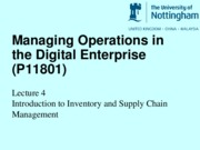 Lecture 4 Introduction to Supply Chain Management