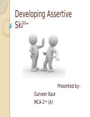 Developing Assertive Skills.pptx