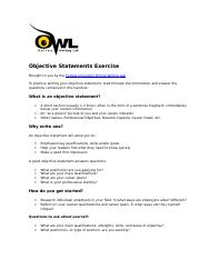 Objective Statements Exercise.doc