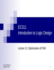 Lecture11 Optimization of FSM