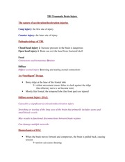 PSYCH 207 TBI Traumatic Brain Injury Notes