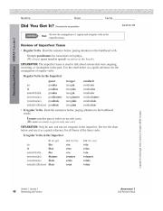 Answer Key Unidad 4 Leccion 1 Reteaching And Practice Answers