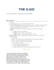Midterm Review-- the Iliad