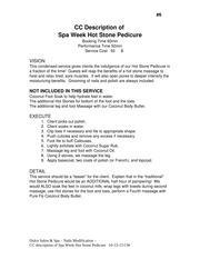 6-cc description of Spa Week Hot Stone Pedi
