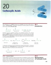 Ch 20 - Carboxylic Acids