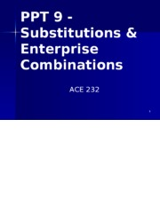 PPT 9 Substitutions & Enterprise Combinations With Blanks