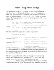 Some Things about Strings