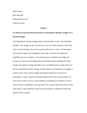 rothaermel exercise 1 essay Busi690_8wk_syllabus_rothaermel_3e integration of faith and learning paperthe student will write an essay that is a minimum  150connect ratio exercise (1) .