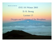 Eve101 Lecture 13 - Oxygen & Biosphere (Strong, Winter 2015)