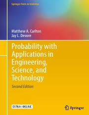 Probability with applications in engineering science and probability with applications in engineering science and technology by carlton and devorepdf springer texts in statistics matthew a carlton jay l fandeluxe Images