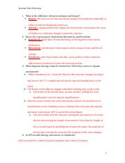 Lecture Test 2 Review